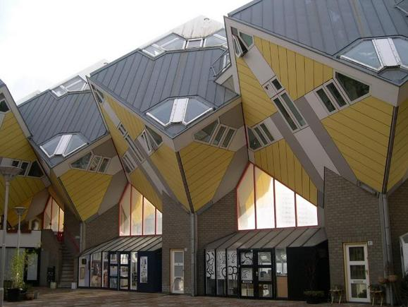 Cube Houses, Netherlands-View of the Cube Houses