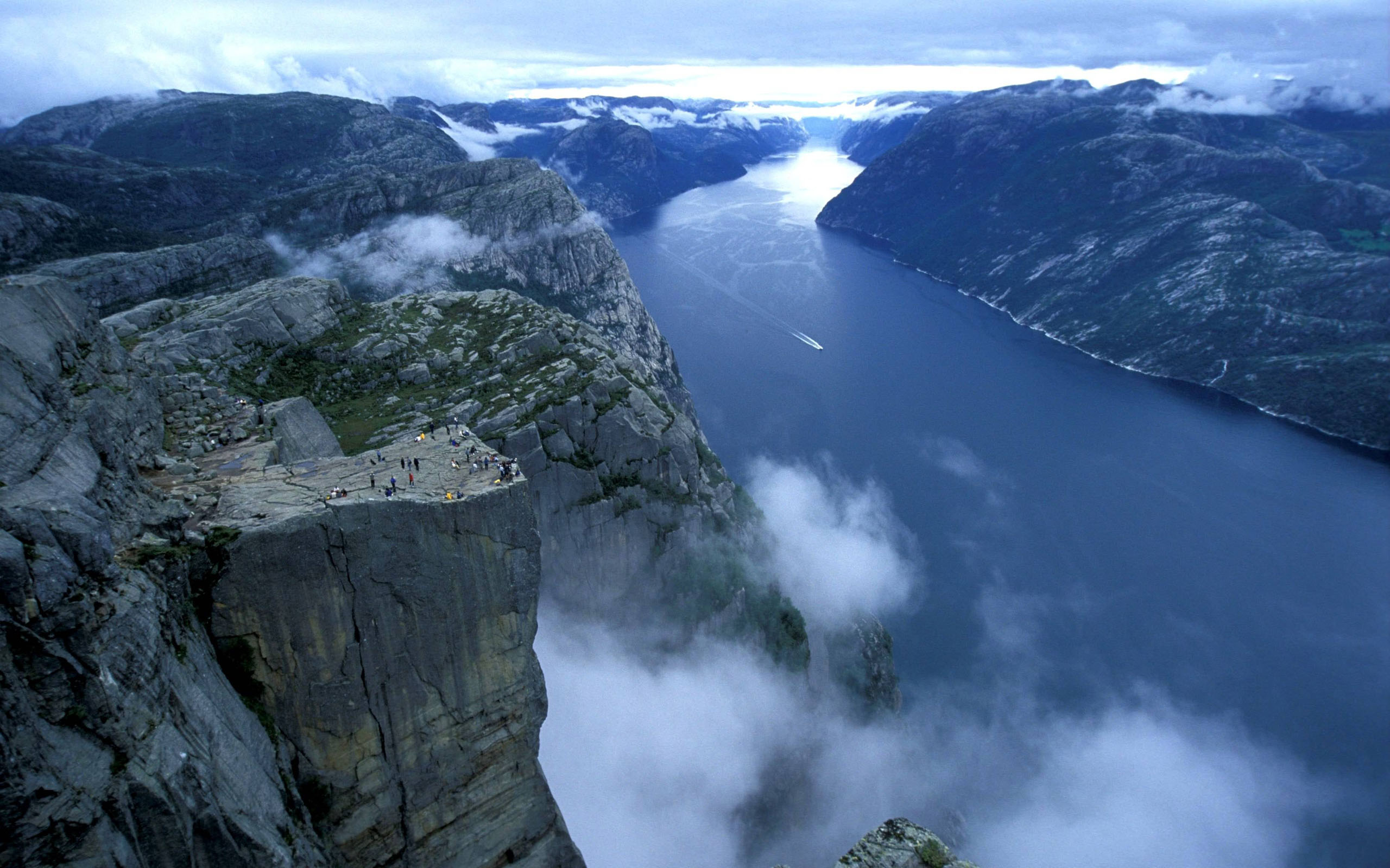 Preikestolen Norway Wide Desktop Background