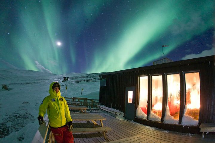img42453-Northern-lights-over-the-Lappland---Abisko-Tourist-Station-hostel-in-Sweden