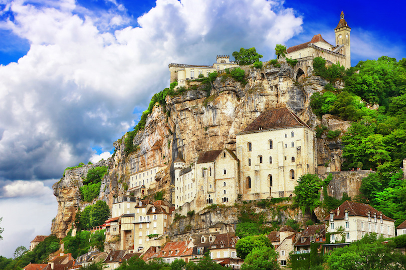 Rocamadour, a beautiful french village on a cliff in Midi-Pyrenees.